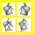 2016 Sexy Women Bondage Harness Cage Bra Crop Top Body Harness Burlesque Dance Party Rave Lingerie,Goth Fetish Erotic Frame Bra