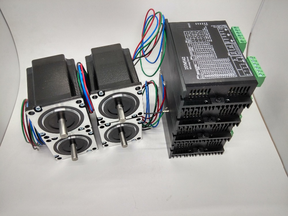 цена на CNC 4 axis Kit, 2DM542 Stepper Motor Driver 4.2A 24-50V driver replace 2M542 + Nema23 425 Oz-in stepper motor