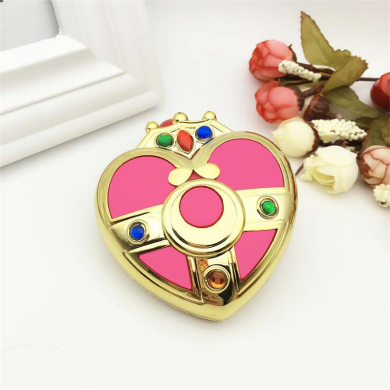 Anime Pretty Guardian Sailor Moon Cosplay Costumes Accessories Badge Transformation Compact Pocket Mirror
