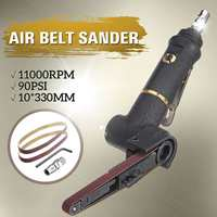 10x330mm Pneumatic Air Belt Sander Machine Grinding 16000rmp Polishing Tools with 2 Sanding Belts For Air Compressor