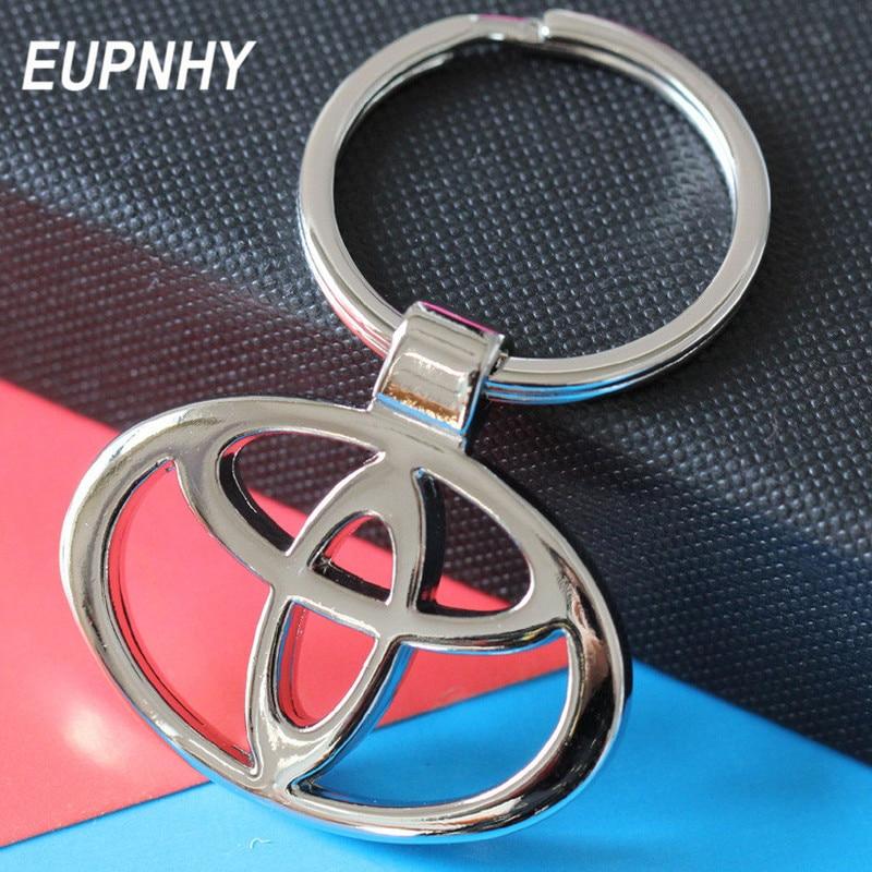 EUPNHY 1PC Car Logo Toyota Hyundai Honda Suzuki Pendant Keychain Fashion Metal Car Keychain Key Ring Holder for Men men s toyota honda nissan keychain hollow silver plated genuine leather car keychain key ring metal key chain pendant