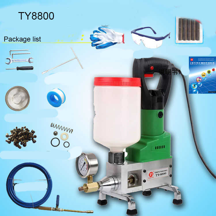 PU Polyurethane and Epoxy grouting machine Injection Pump for Roof Wall  Concrete Cracks