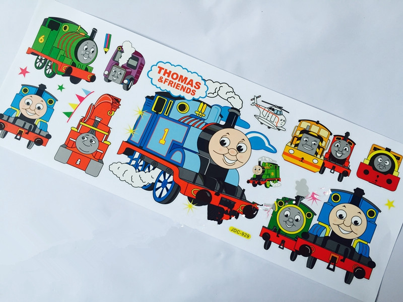 100pcs Cartoon Train Thomas Peel And Stick Wall Decals 21x56cm Wall  Stickers Decals Art Kid Room