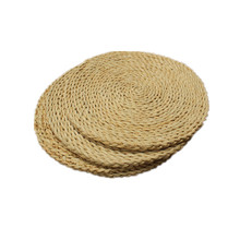 3Pcs Corn Straw Braided Dining Table Mats Coasters Mat Natural Handmade Woven Placemat Insulation Resuable Pad