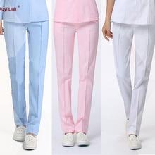 Хлопок, униформа медсестры, брюки, красивая форма, брюки, скрабы, брюки, медицинская форма, цвет блокировки, дизайн для женщин, медсестры