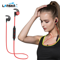 LANSHA Bluetooth Headphones With HD Mic Wireless Neckband Bass Stereo Music Earphone Headset For Running Sport