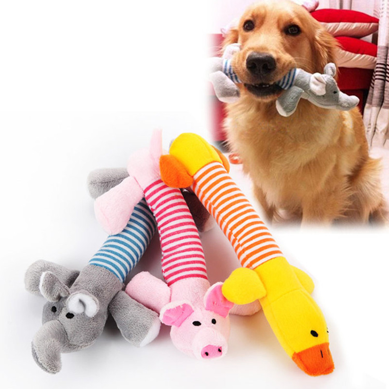 Funny Pet Dog Squeak Toys Pet Puppy Chew Squeaker Squeaky Plush Sound Toy Cute Animal Design Toys For Small Medium Large Dogs