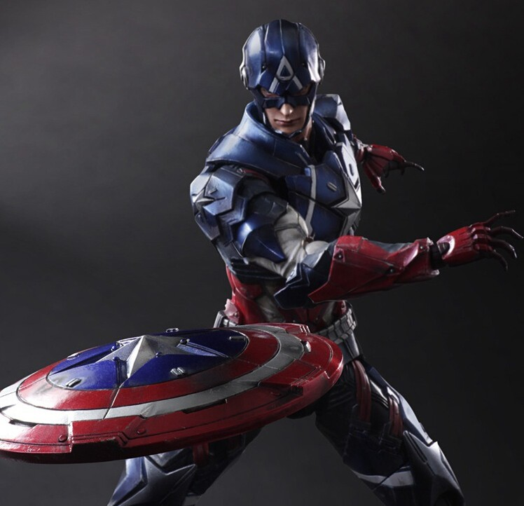 "ФОТО captain america action figure toys 10"" play arts kai collection pak001026"
