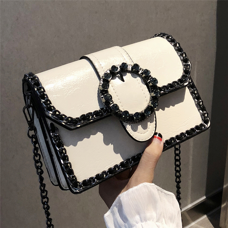Fashion Retro Female Diamond Bag 2018 New Women's Designer Handbag Quality PU Leather Women Bag Chain Shoulder Messenger Bags