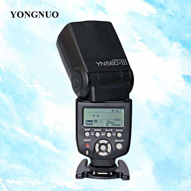 YONGNUO YN-560 III Wireless Flash Speedlite YN560 III Flashlight YN-560III YN560III for Canon Nikon Pentax Panasonic DSLR Camera yongnuo 2 4g wireless flash speedlight yn 560 iii for canon nikon pentax sony panasonic dslr cameras yn560 iii yn560iii