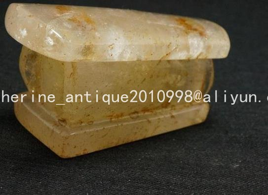 Collection Natural old crystal coffin ornaments sculpture,Hand carving crafts, best adornment & collection, free shipping