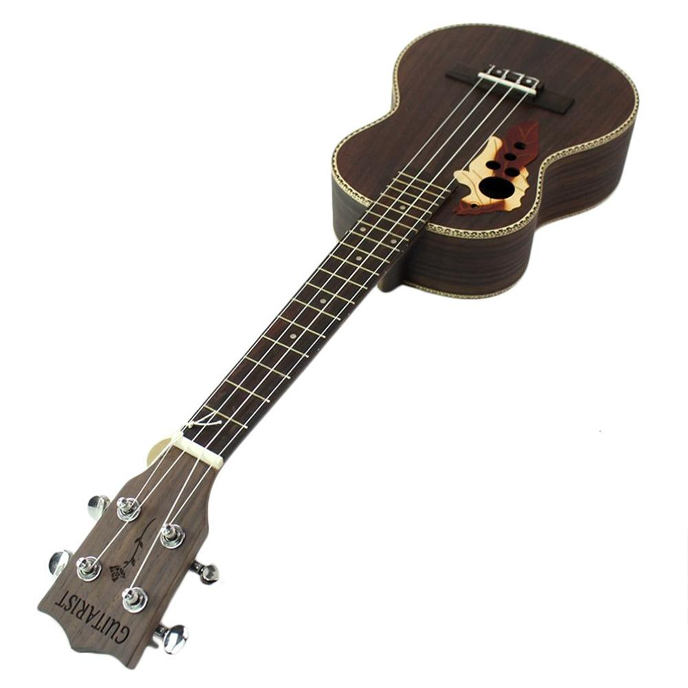 21 Ukulele Spruce Acoustic Rosewood 4 Strings Hawaii Guitar Musical Instrument with Built-in EQ Pickup for Music Lover zebra professional 24 inch sapele black concert ukulele with rosewood fingerboard for beginner 4 stringed ukulele instrument