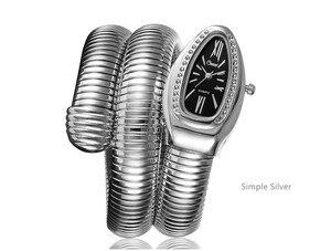 Image 4 - 2019 CUSSI Luxus Marke Schlange Uhr Gold Damen Uhren Silber Quarz Armbanduhren Damen Armband Uhr Reloj Mujer Uhr Geschenk