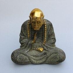 Kupfer statue von reinem kupfer Buddha-statue Antike antiken sammlung Feng Shui ornamente ??????? Freies verschiffen