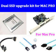 New Dual SSD upgrade kit for MAC PRO 1.1-5.1 inclued (dual ssd tray/ sata cable/ sata3 card /SATA3.0 Hard Disk Data Cable) orico original sata3 0 four set sata data cable sas cable solid ssd hard line black cpd 7p6g bw904s v1