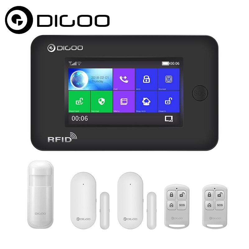Digoo DG-HAMA Écran Tactile 433 mhz GSM WIFI BRICOLAGE Intelligent Système D'alarme de Sécurité À Domicile Kits de Mise À Niveau Compatible avec Alexa VS DG-Hosa