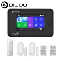 Digoo DG HAMA Touch Screen 433MHz GSM WIFI DIY Smart Home Security Alarm System Kits Upgrade