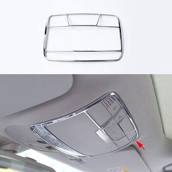 Chrom ABS Vorne Lesen Licht Rahmen Abdeckung Trim Für Mercedes Benz C Klasse W205 15-17 & GLC Klasse x205 16-17 & E Klasse W213 16-17