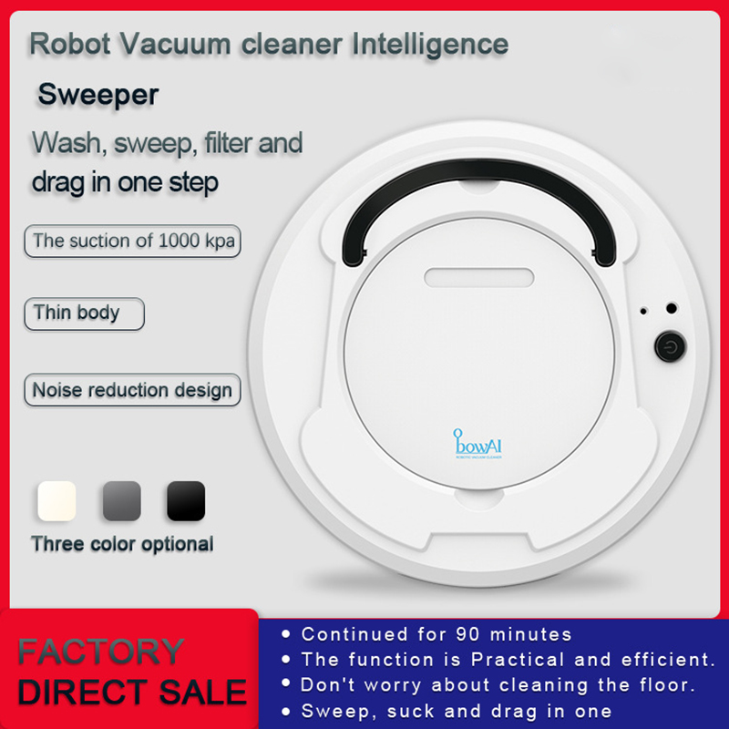 3in 1 Rechargeable Floor Sweeping Robot Intelligent Self Induction Dust Collector Sweeping Floor Robot Vacuum Cleaner aspiradora