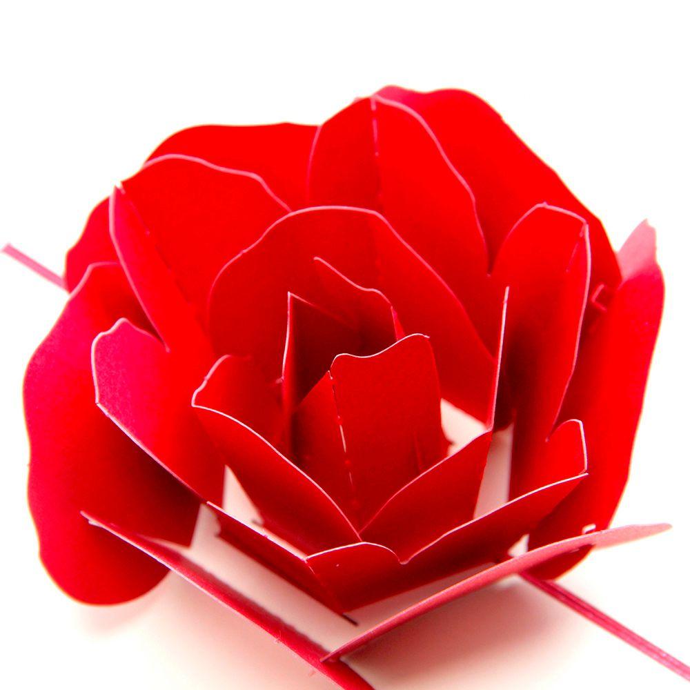 3d Pop Up Rose Thank You Greeting Postcards Flower Handmade Blank