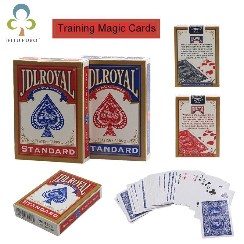 El más nuevo de Poker/azul/rojo estándar jugando trucos de magia de Poker hecho en China formación naipes de magia herramientas de trucos GYH