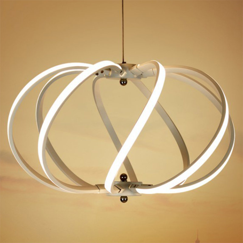 Minimalism Modern Led Pendant Lights For Dining Room Bar Kitchen Aluminum Acrylic Hanging Led Pendant Lamp Fixture Ceiling lamp modern pendant lights spherical design white aluminum pendant lamp restaurant bar coffee living room led hanging lamp fixture
