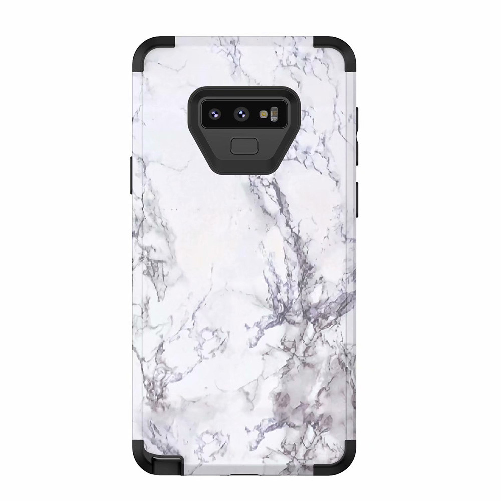Case For Coque Granite Marble Contrast Color PC Hard Phone ...