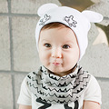 Новое Прибытие Детские Hat Хлопок Печати Детские Beanies Boy Девушки Уши шляпа Новорожденных Kint Cap Симпатичные Toddlre Детские Шапки Детские Шапки Аксессуары