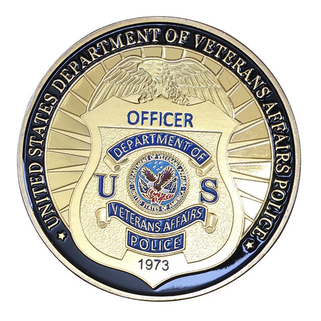 United States Department Of Veterans Affairs Police Gold Plated With