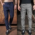 MK 2017 Trend Men's Pants Casual Mid Waist Drawstring Long Trousers Men Business Work Wear Plus Size 30-40