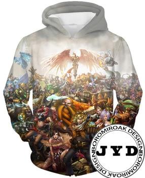 цена Hoodie Men 3D Print League of Legends Anime Hoodies Cosplay Sweatshirts Tracksuit Casual Hooded Jumper Male Pullover Boys Gift онлайн в 2017 году