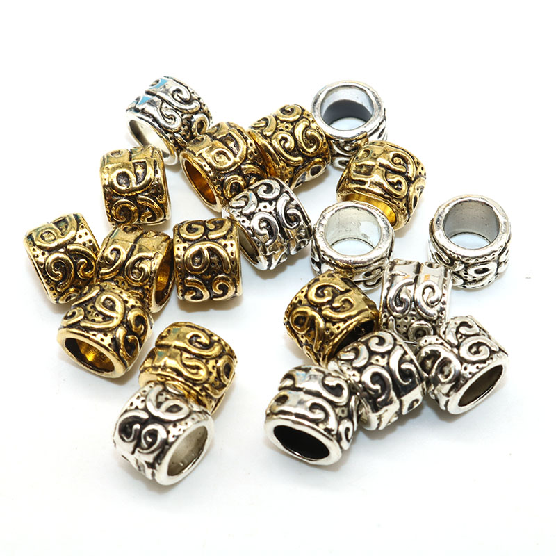 8mm Wholesale 20pcs Lot Tibetan Silver Spacer Beads Plated