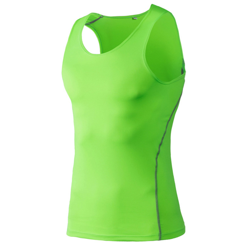 Breathable Quick Dry Men's Sporting Vest Clothing Compression Tank Top Workout Tight-fitting Clothes Sportwear S-3XL