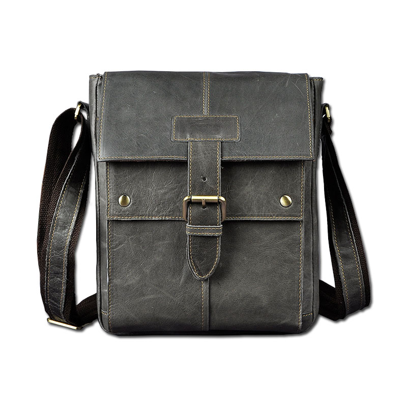 Brand New Genuine Cow Leather 10 Tablet PC Pack Men's Shoulder Messenger Bag Casual Travel Business OL Packs Vintage Full Grain