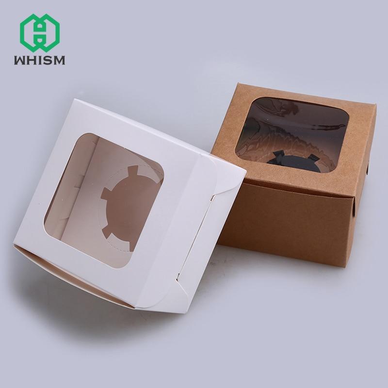 WHISM Kraftpapier Einzel Muffin Cupcake Box Fenster süßigkeit ...