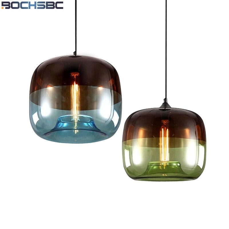 Nordic Pendant Lamp Modern Minimalist Bar Cafe Light Fixtures Creative Plated Glass Pendant Light for Dinning Room