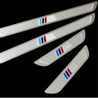 Car Styling Stainless Steel M Tech Sports Guards Pedal Door Sill Scuff Plate For BMW X1