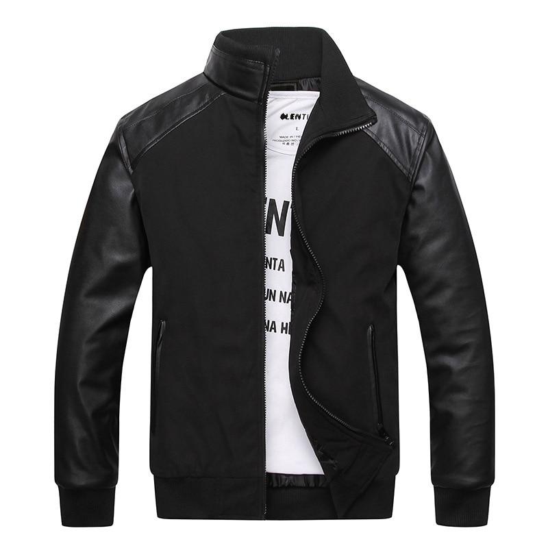 New menM-6XL New Men\'s PU Leather Jacket Winter Wa...