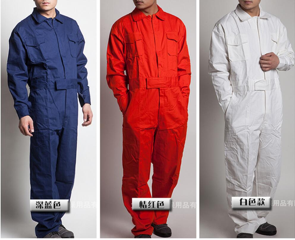M-4xl Work Siamese Overalls Men's Auto Repair Suit Female Spring And Autumn Work Jumpsuit Long-sleeved Cotton Tooling Coverall