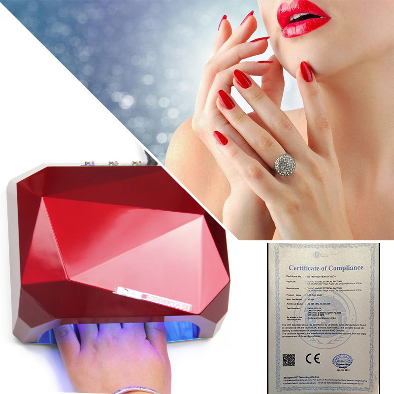 1006-UV Lamp LED Nail Lamp Nail Dryer Diamond Shaped 36W Long LIife LED CCFL Curing Nail Tools for UV Gel Nail Polish Art Tools led lamp nail art dryer nail lamp watch shaped long life 9w led curing for gel polish nail art beauty care manicure tools