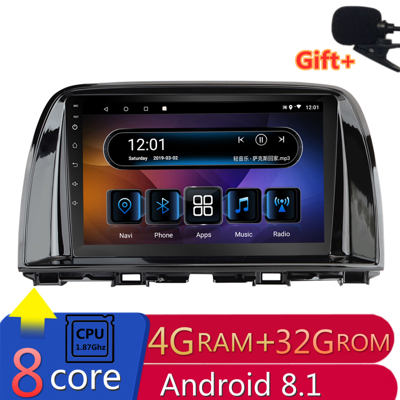 "9"" 4G RAM 8 cores Android Car DVD GPS Navigation for Mazda 6 Atenza CX-5 CX5 2012 2013 2014 2015 audio stereo car radio headunit"