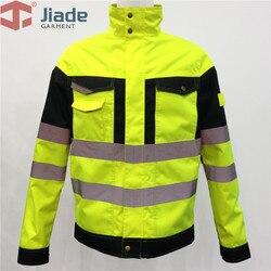 Jiade Arbeit Tragen Jacke Reflektierende Jacke Hohe Sichtbarkeit Jacke wasserdichte jacke wasser-beständig mantel freies verschiffen