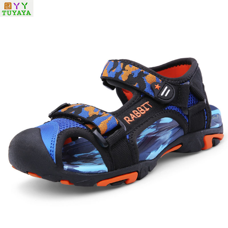 Sandals for Boys 2018 Summer Children School Shoes Genuine Leather Boys Sandals Children Beach Sandals Breathable Boys Sandals