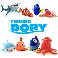 Dory Clownfish Nemo Balık Peluş Oyuncaklar Karikatür Film Finding Nemo 2 Mini Hank Ahtapot Balina Köpekbalığı Dolması Hayvanlar Hediye