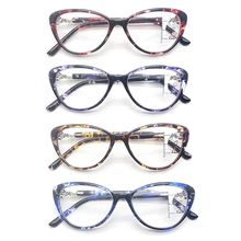 Anti Blue Light Progressive Multifocal Reading Glasses Retro Cat Eye Frame Near Far Sight Diopter Eyewear TR90 hot sale women reading glasses cat eye bifocal reader progressive multifocal lens diopter eyeglasses for near and far distance
