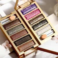 1 pc 5 Farbe Make Up Glitter Lidschatten Nude Lidschatten-palette Smoky Shimmer Diamant Make-Up Pigment Auge Kosmetische