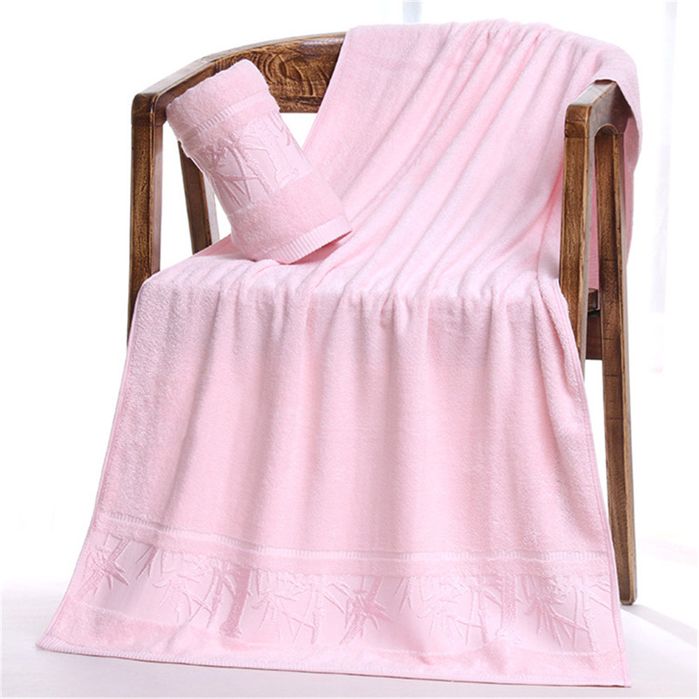 Towel Sets 2pcs/lot Bath Towels toalha Bathroom Bamboo Fiber Wholesale Hand Cloth Facecloth Geometrical Brand Washcloth Towel