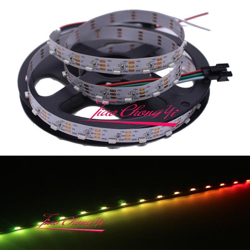 2 M 48 LED/M S type adressable WS2812 SK6812 bande de pixel LED rvb pliable 5 V