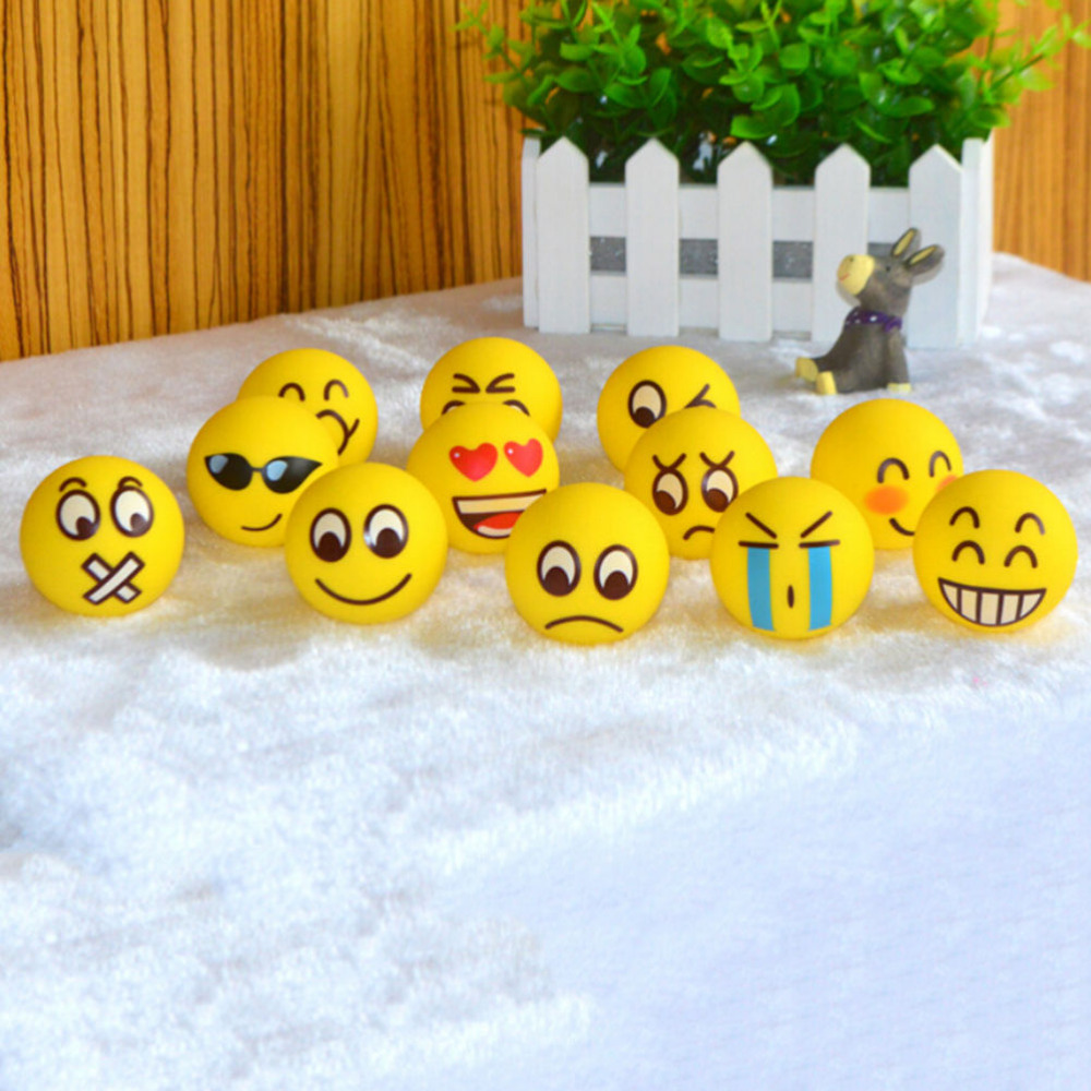 US $0 82 17% OFF|Smiley Face Reliever Ball Dia 7 5cm ADHD Autism Mood Toy  Anti Stress Squeeze Relief Hand Massage Relaxation Ball-in Massage &