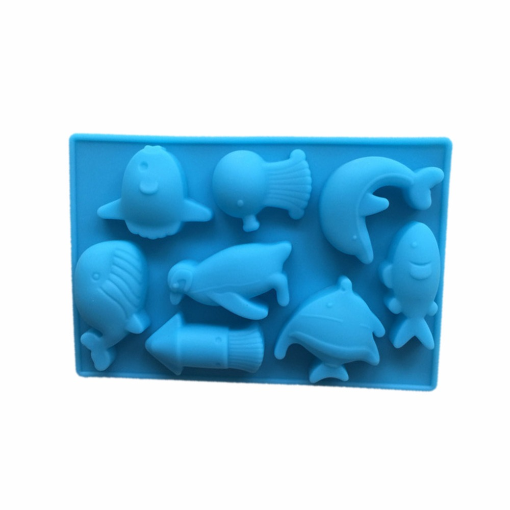 The Sea World Silicone Molds Dolphin and Fish Silicone Chocolate Molds Silicone Handmade Soap Mold Ice Cube Mold DIY Home image